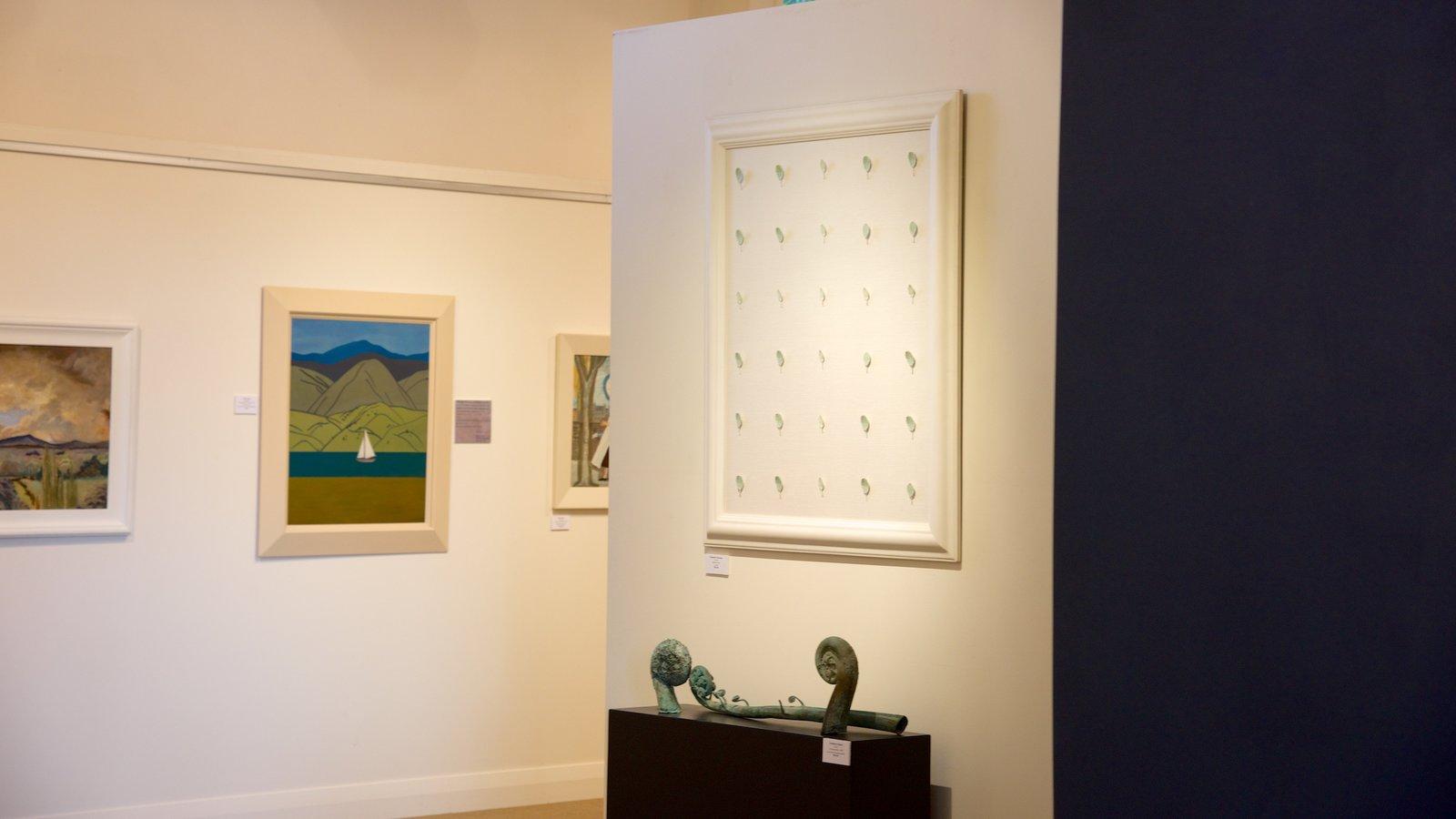 Lake Taupo Museum and Art Gallery caracterizando vistas internas