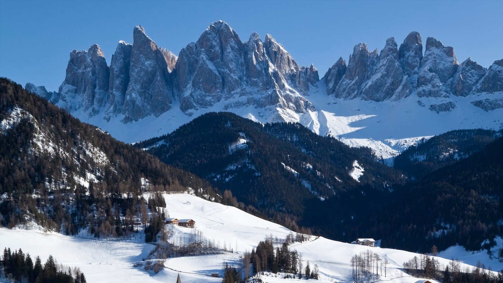Alto Adige - South Tyrol featuring tranquil scenes, snow and mountains
