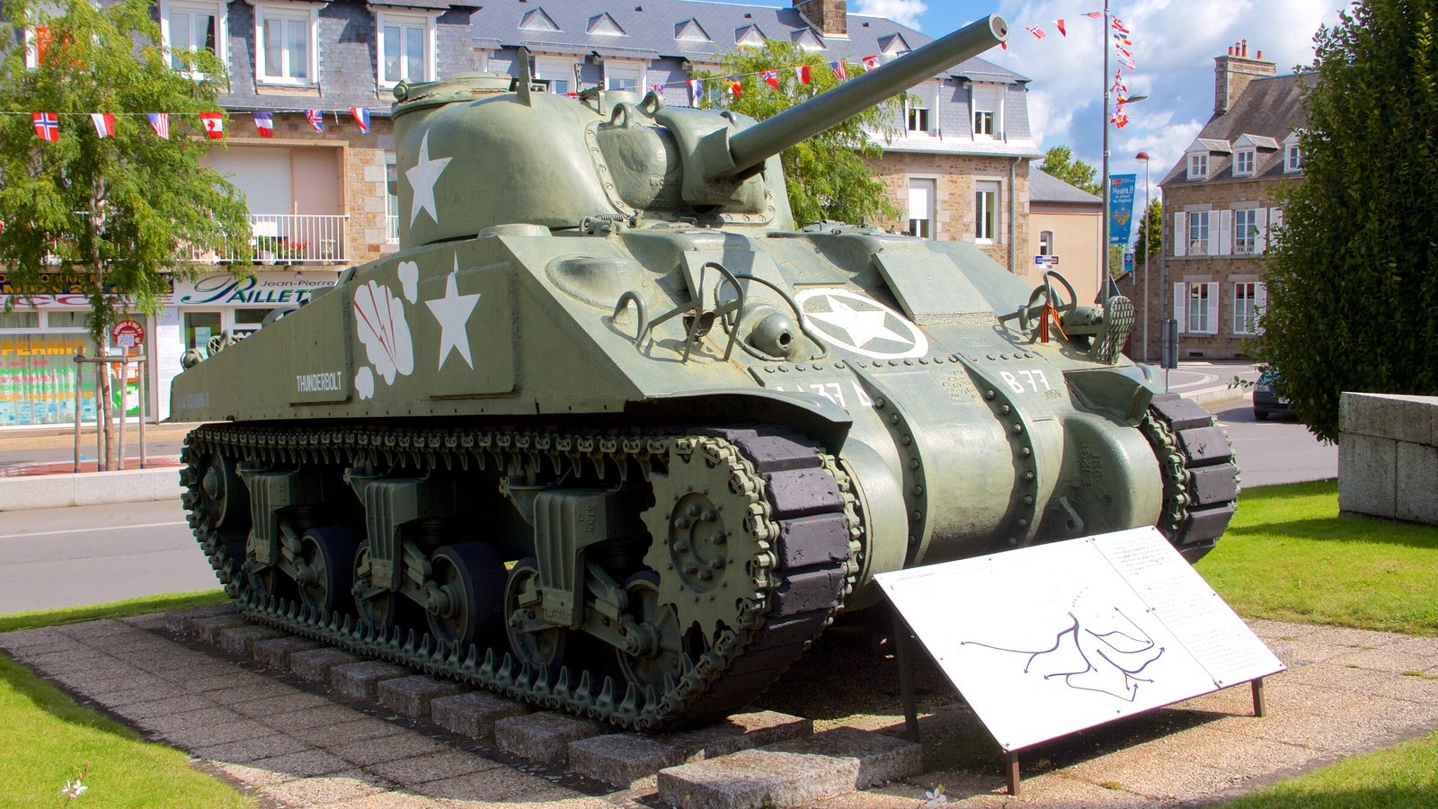 Avranches which includes heritage elements and military items