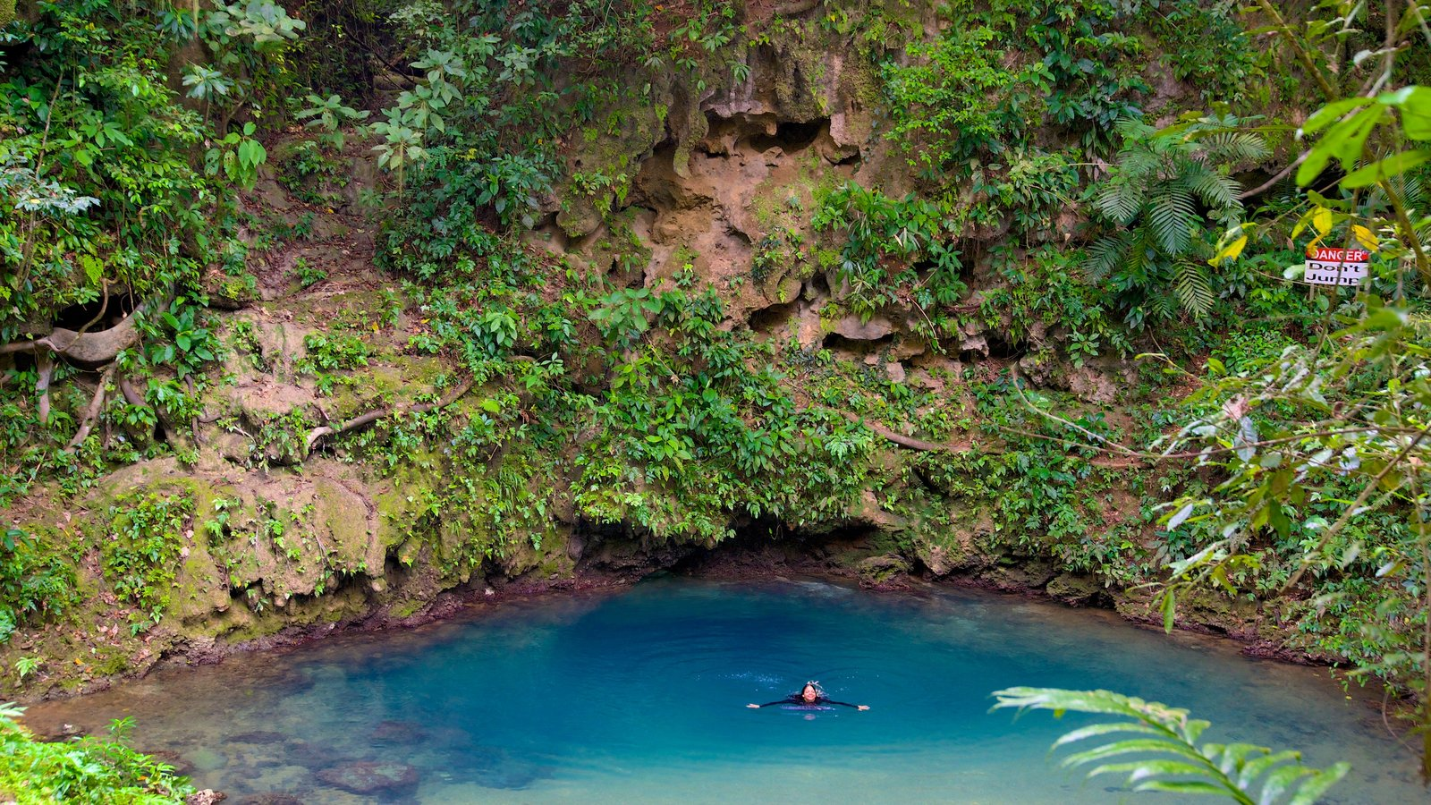 Blue Hole National Park featuring tranquil scenes, swimming and a lake or waterhole