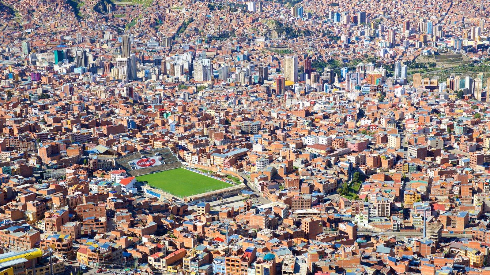 La Paz caracterizando uma cidade