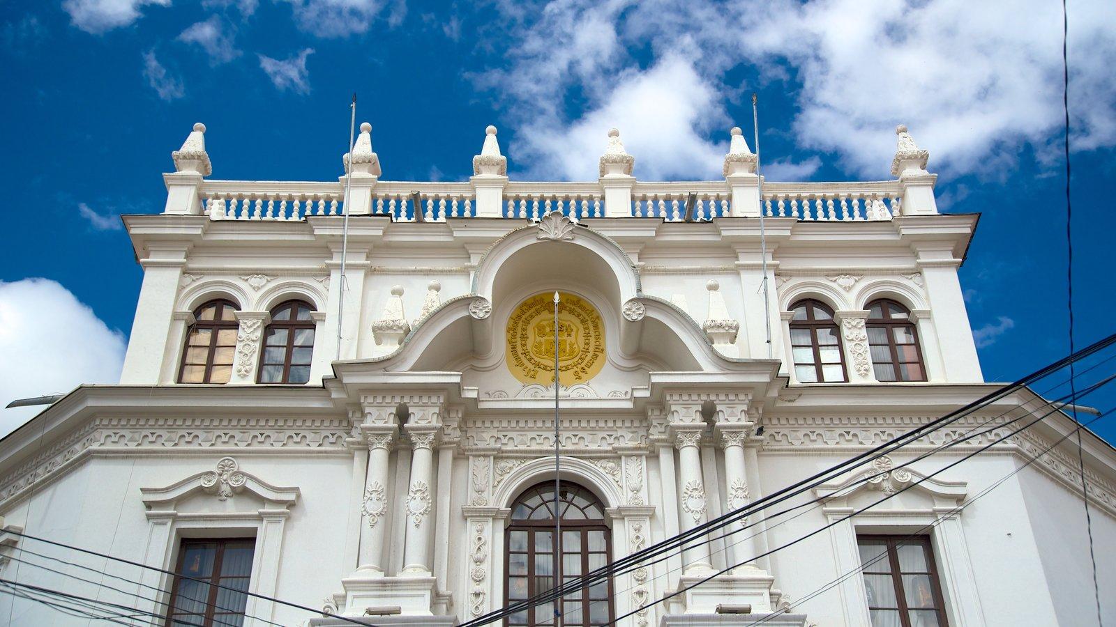 Universidad de San Francisco Xavier de Chuquisaca que inclui arquitetura de patrimônio e elementos de patrimônio