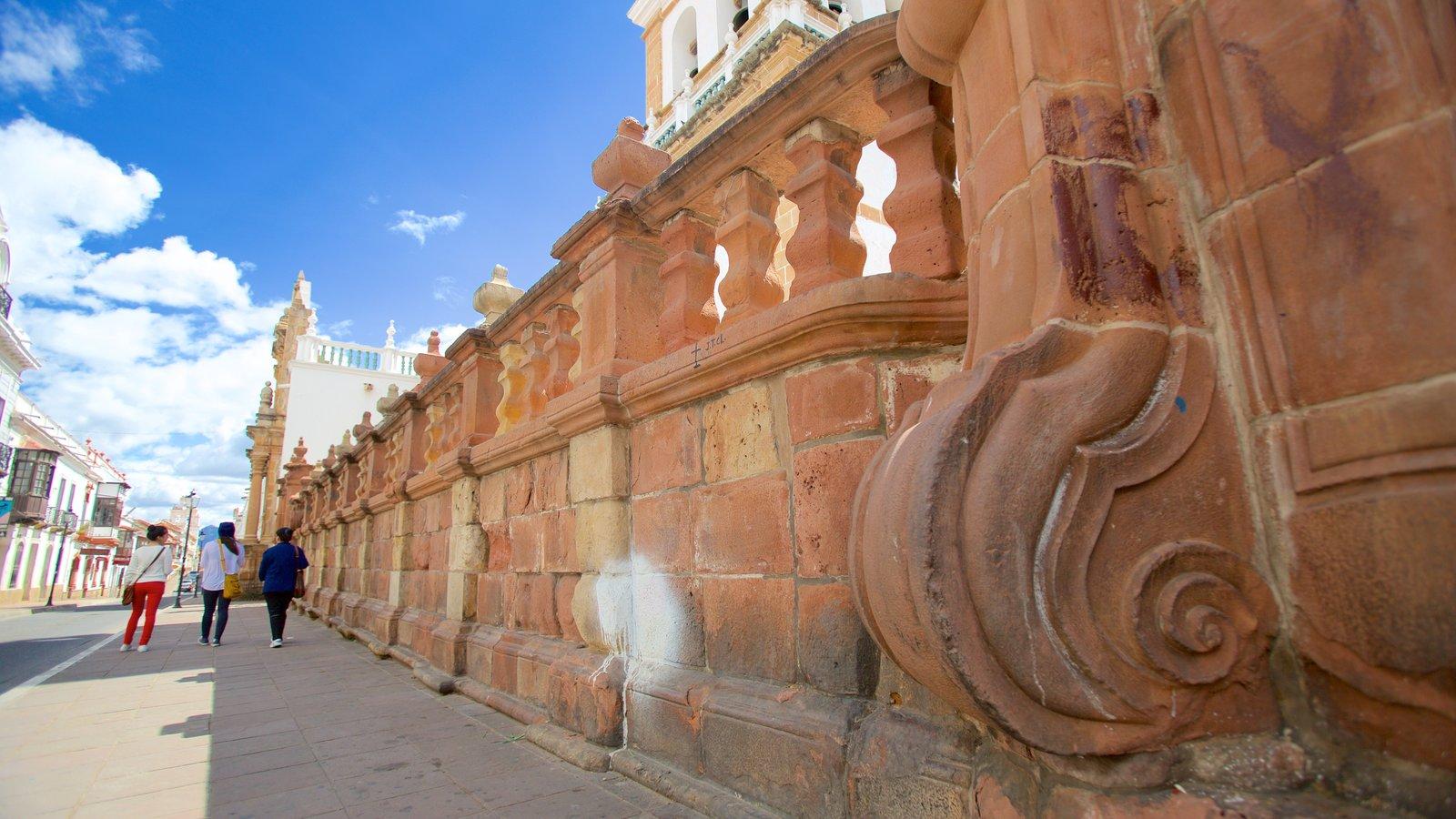 Catedral Sucre que inclui elementos de patrimônio