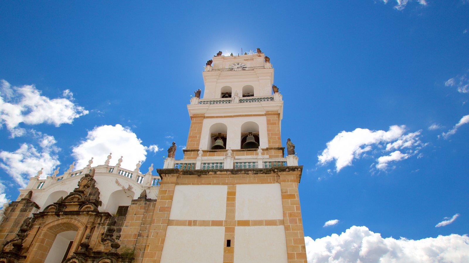 Catedral Sucre caracterizando elementos de patrimônio