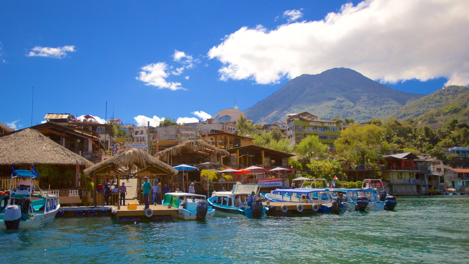 San Pedro La Laguna which includes general coastal views and a coastal town