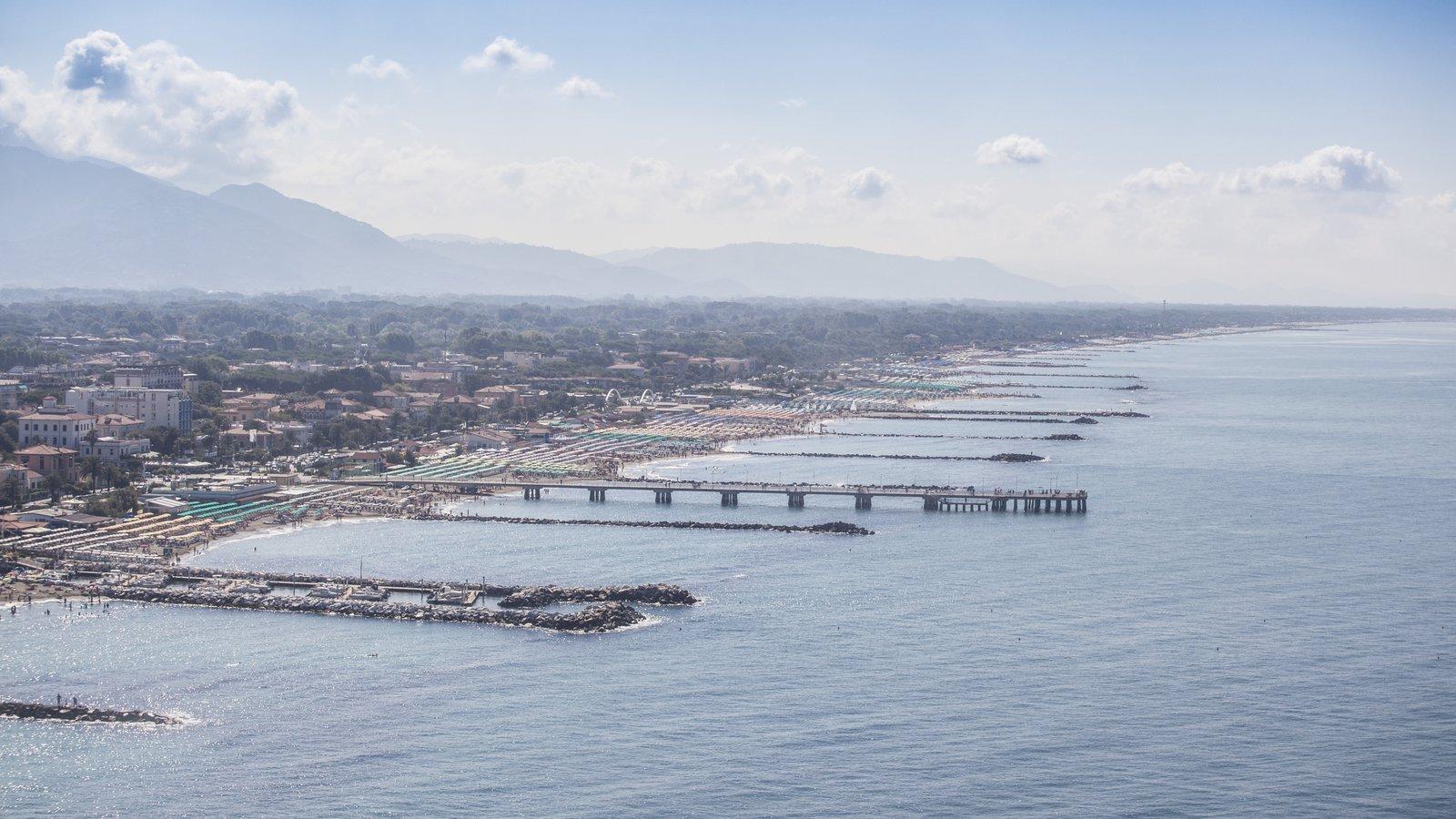 Versilia featuring a coastal town and general coastal views
