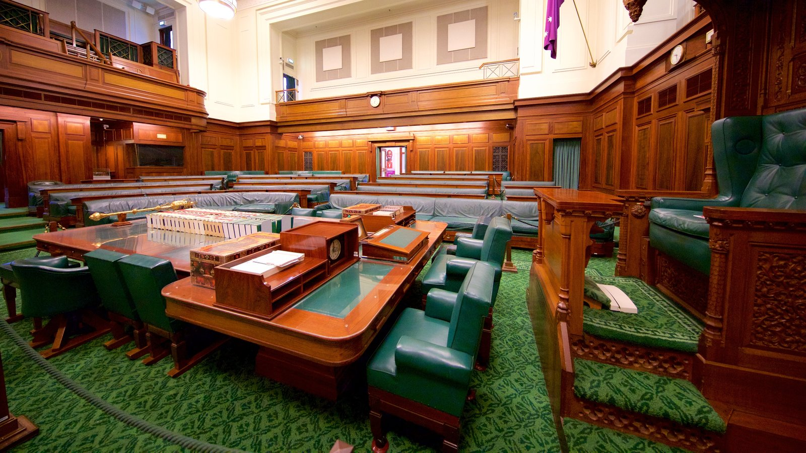 Old Parliament House Showing Interior Views And An Administrative Building