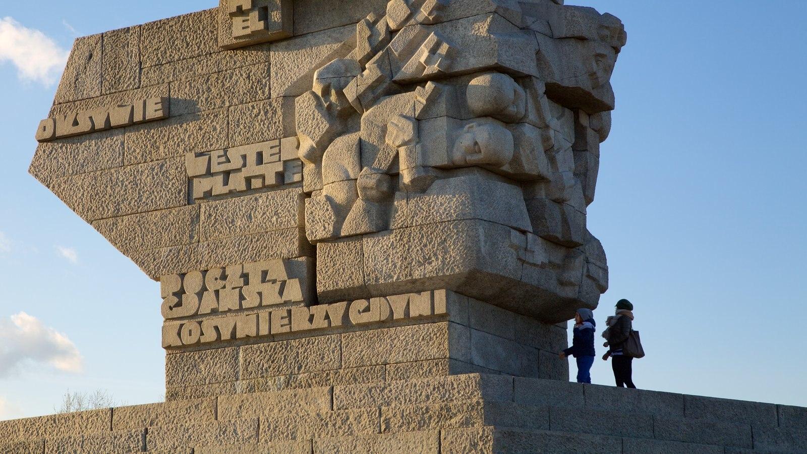 Monumento de Westerplatte caracterizando um monumento