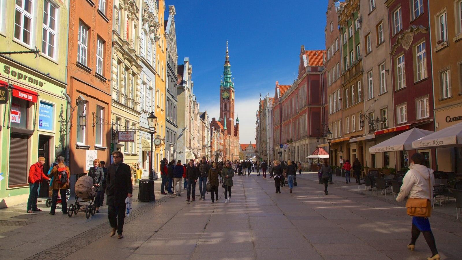 Prefeitura de Gdańsk mostrando cenas de rua