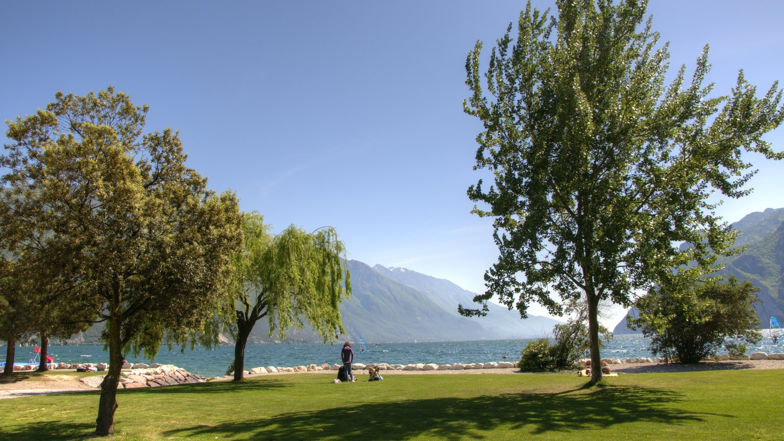 Riva del Garda featuring a lake or waterhole and a park
