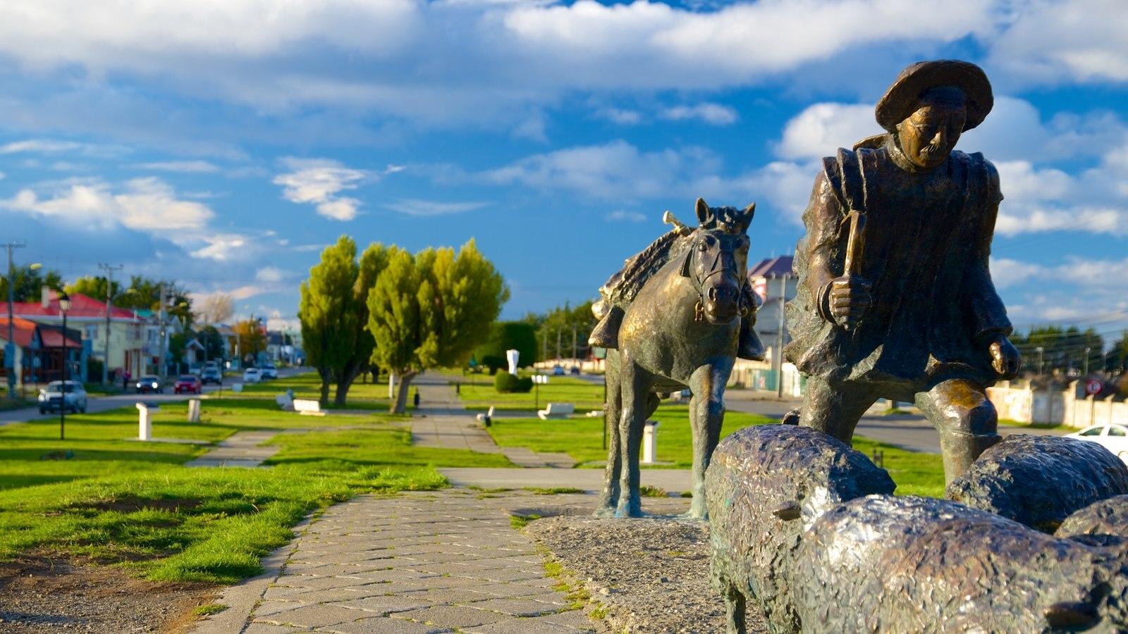 Monumento al Ovejero que inclui uma estátua ou escultura