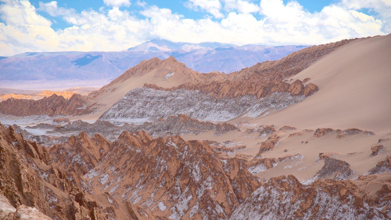 Valle de la Luna que inclui paisagem e paisagens do deserto