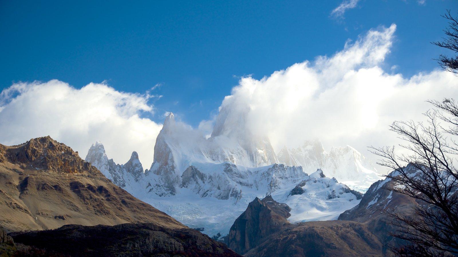 Parque Nacional Los Glaciares que inclui montanhas, cenas tranquilas e paisagem