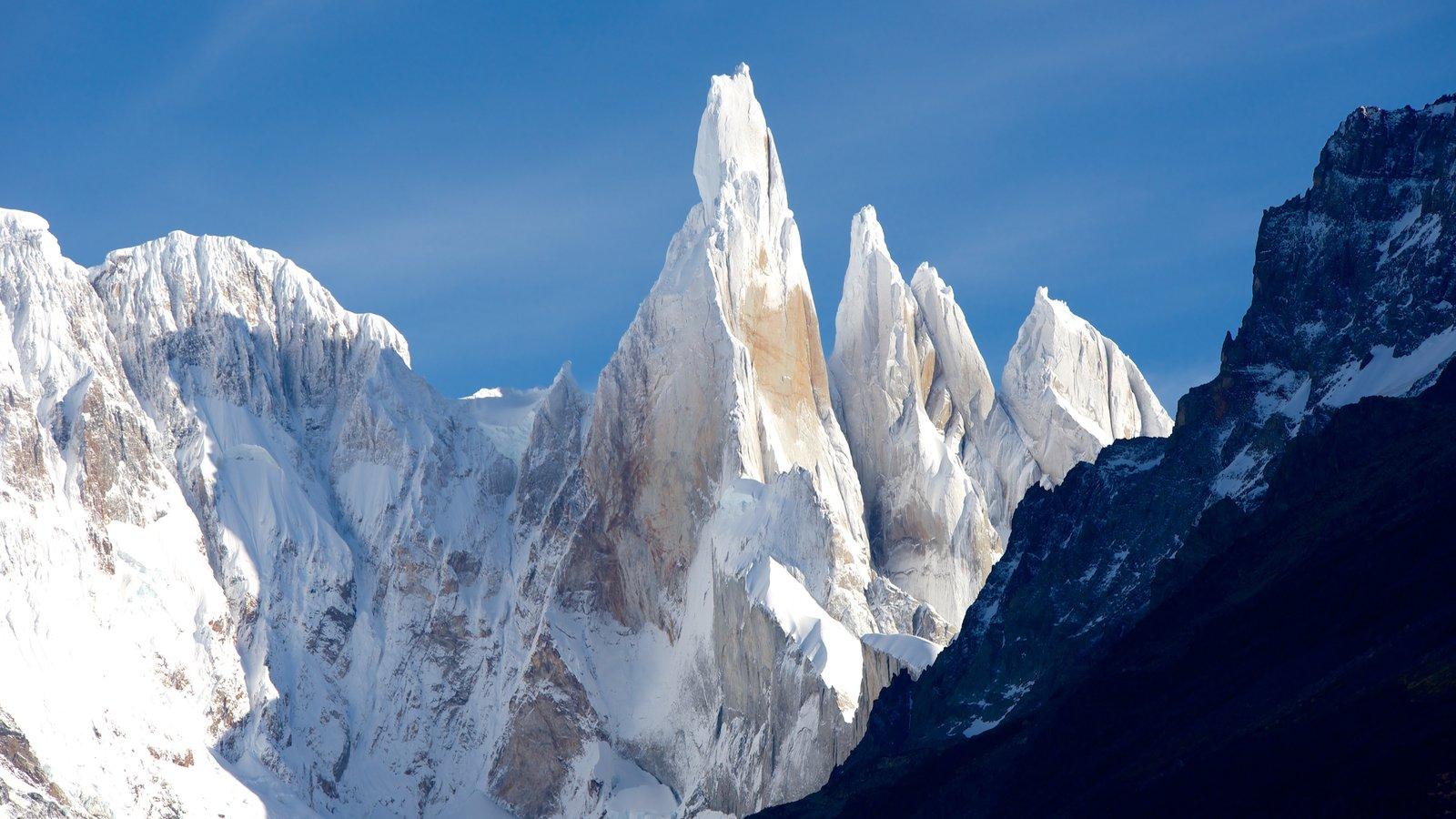Parque Nacional Los Glaciares caracterizando neve e montanhas