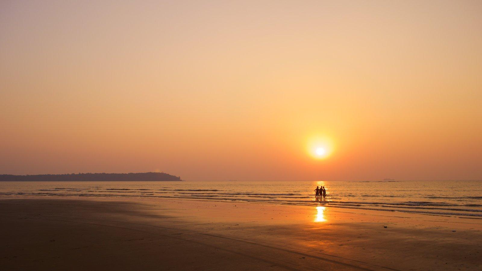 Miramar Beach showing a beach, general coastal views and a sunset