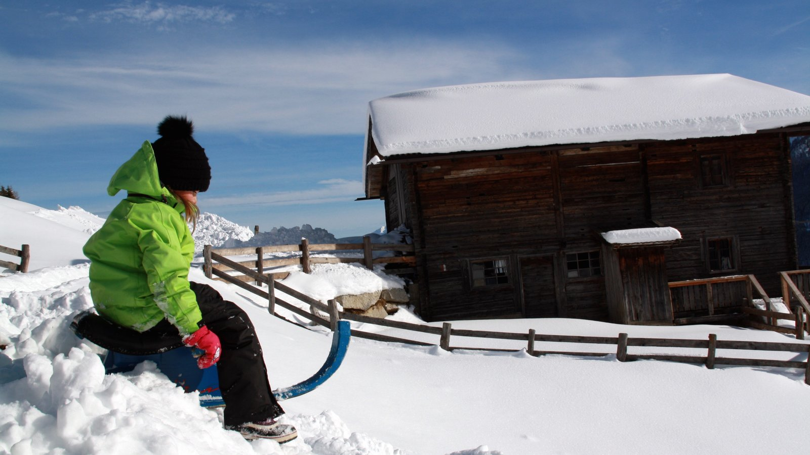 Kronplatz Ski Area which includes snow and snow tubing as well as children
