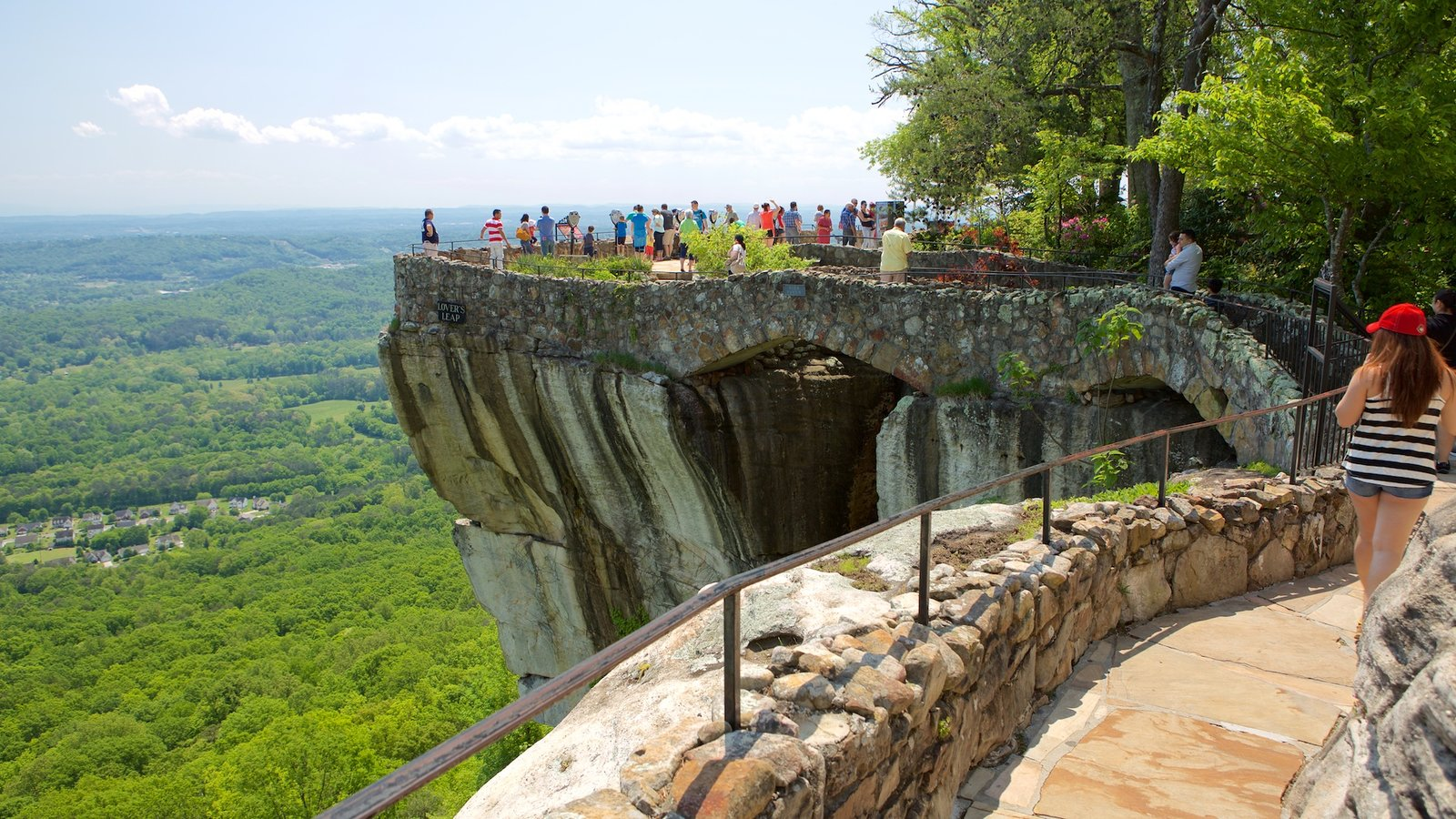 Lookout Mountain featuring views and tranquil scenes as well as a large group of people