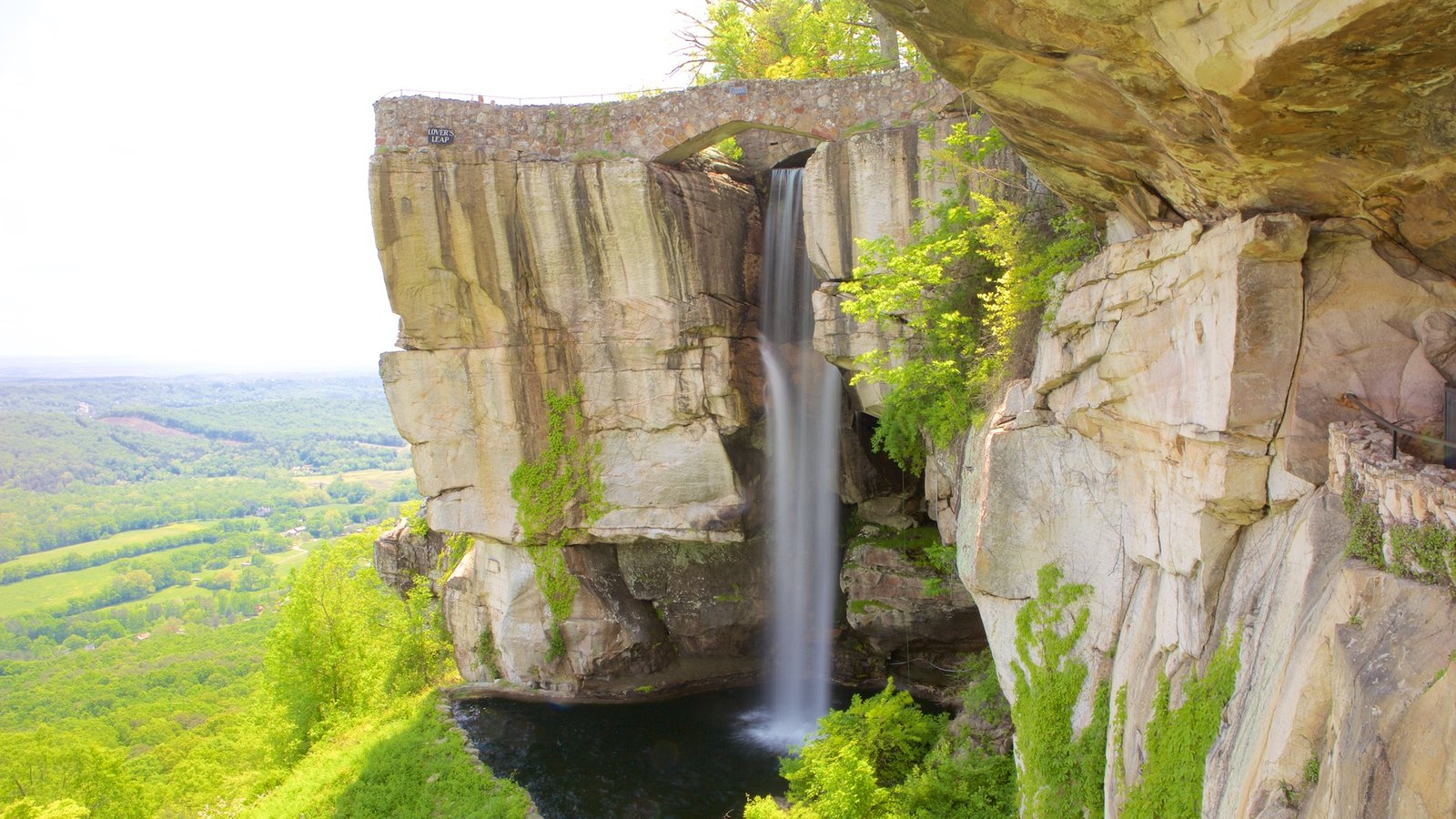 Lookout Mountain featuring a cascade and tranquil scenes