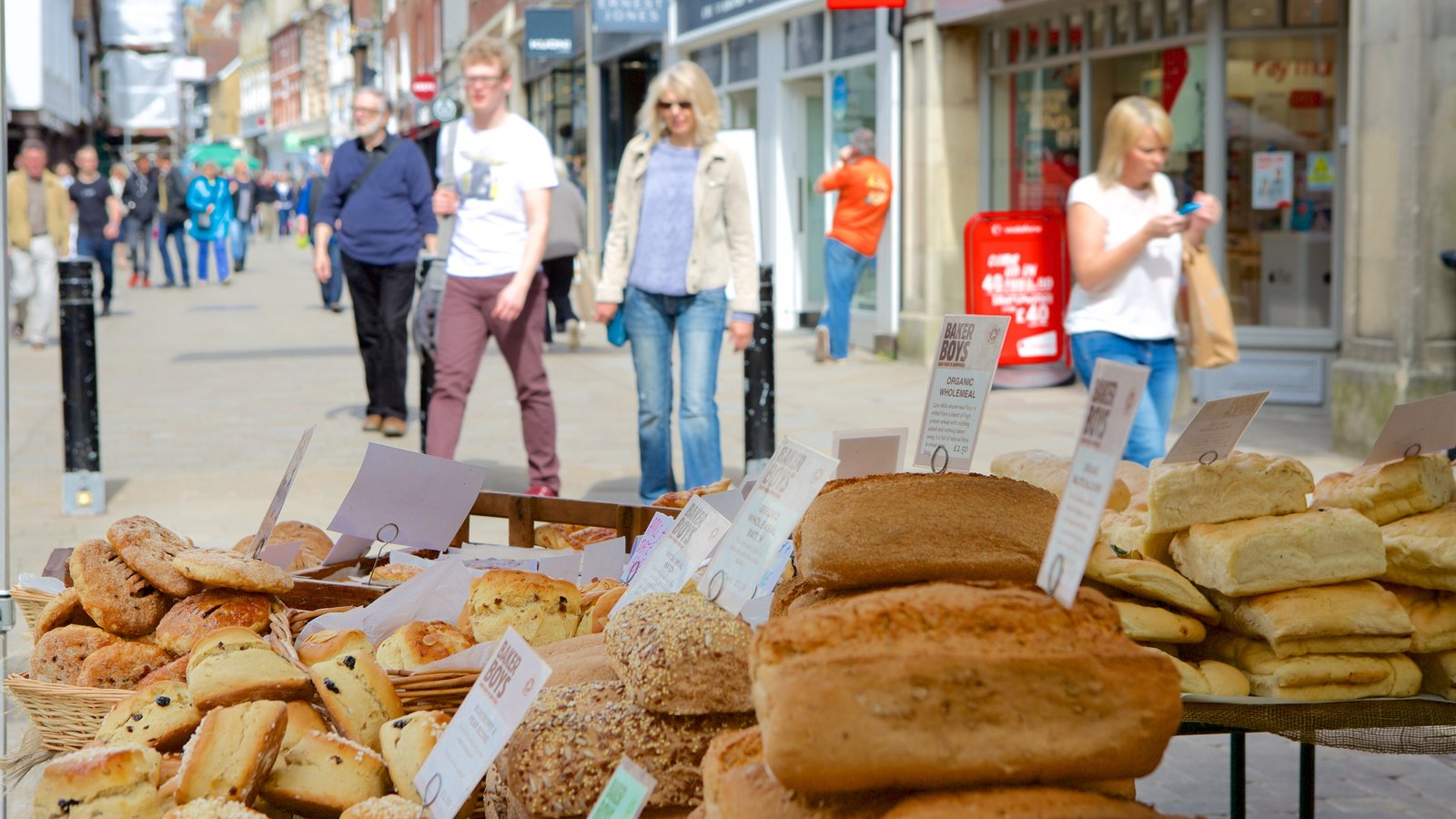 Winchester which includes food as well as a small group of people
