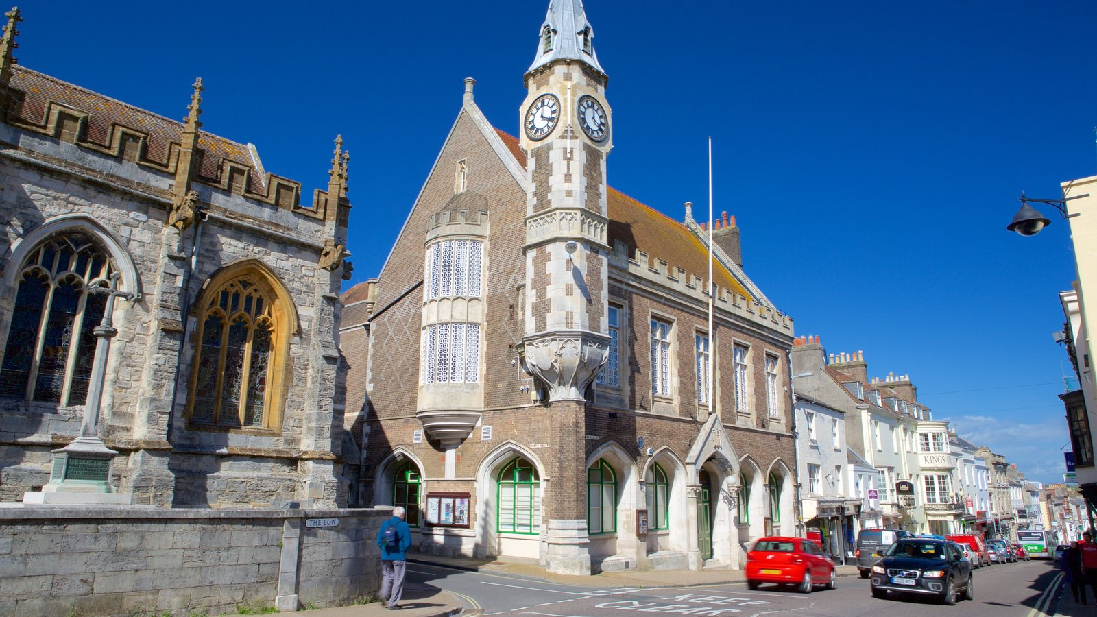 Dorchester caracterizando arquitetura de patrimônio e cenas de rua