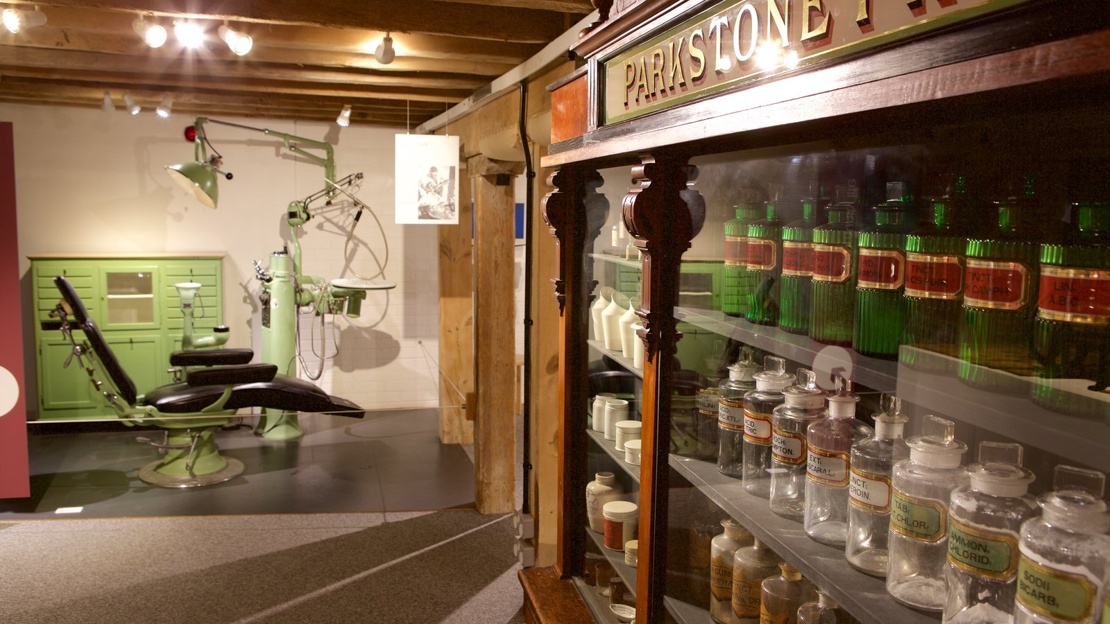 Poole Museum que inclui vistas internas e elementos de patrimônio