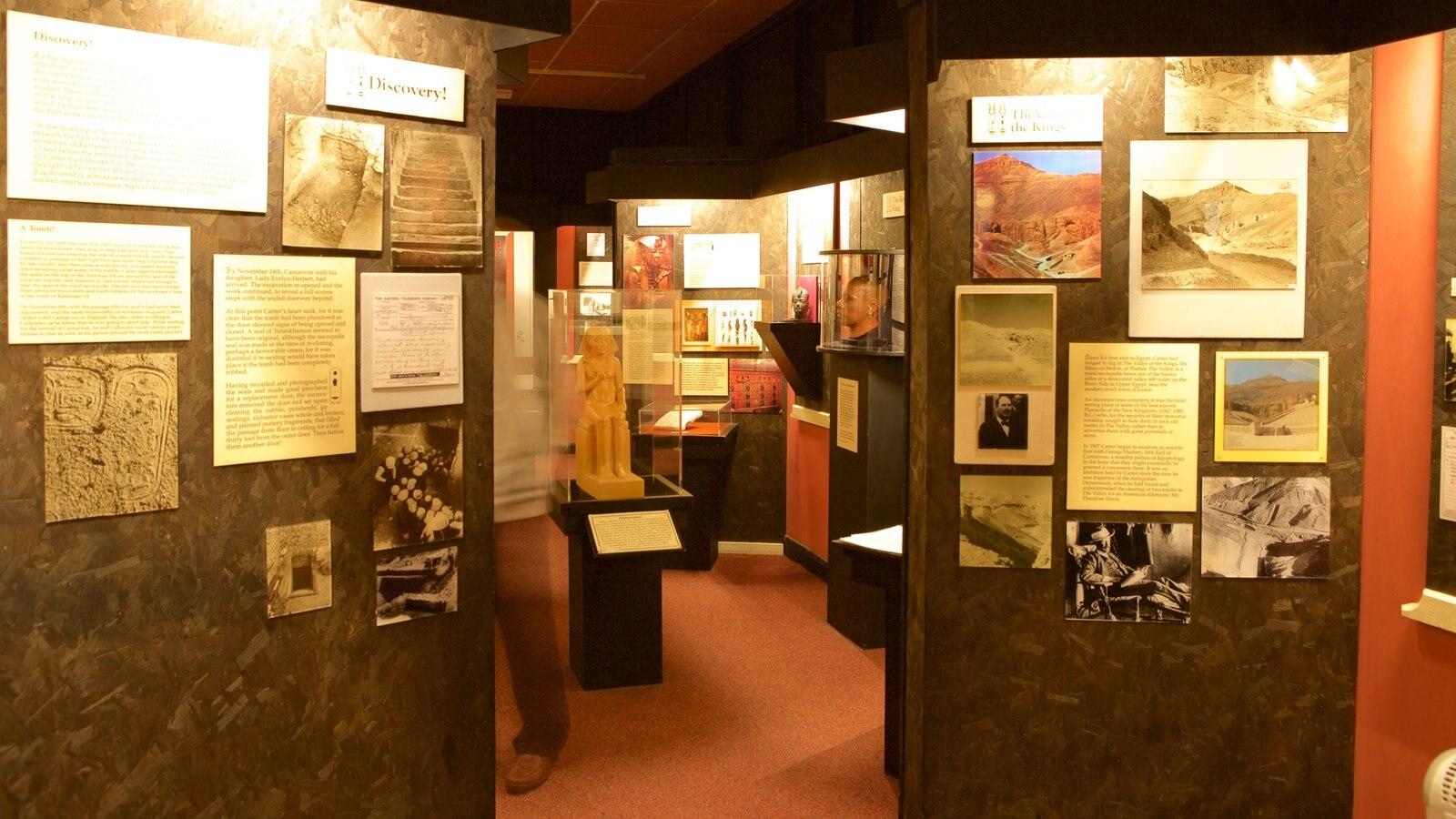 Tutankamon a exposição mostrando vistas internas