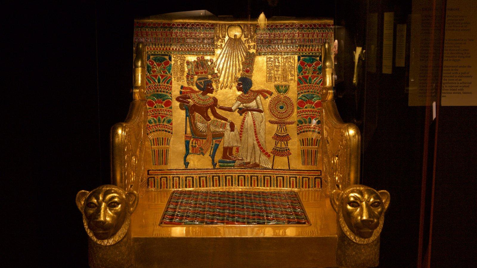 Tutankamon a exposição que inclui um monumento e elementos de patrimônio