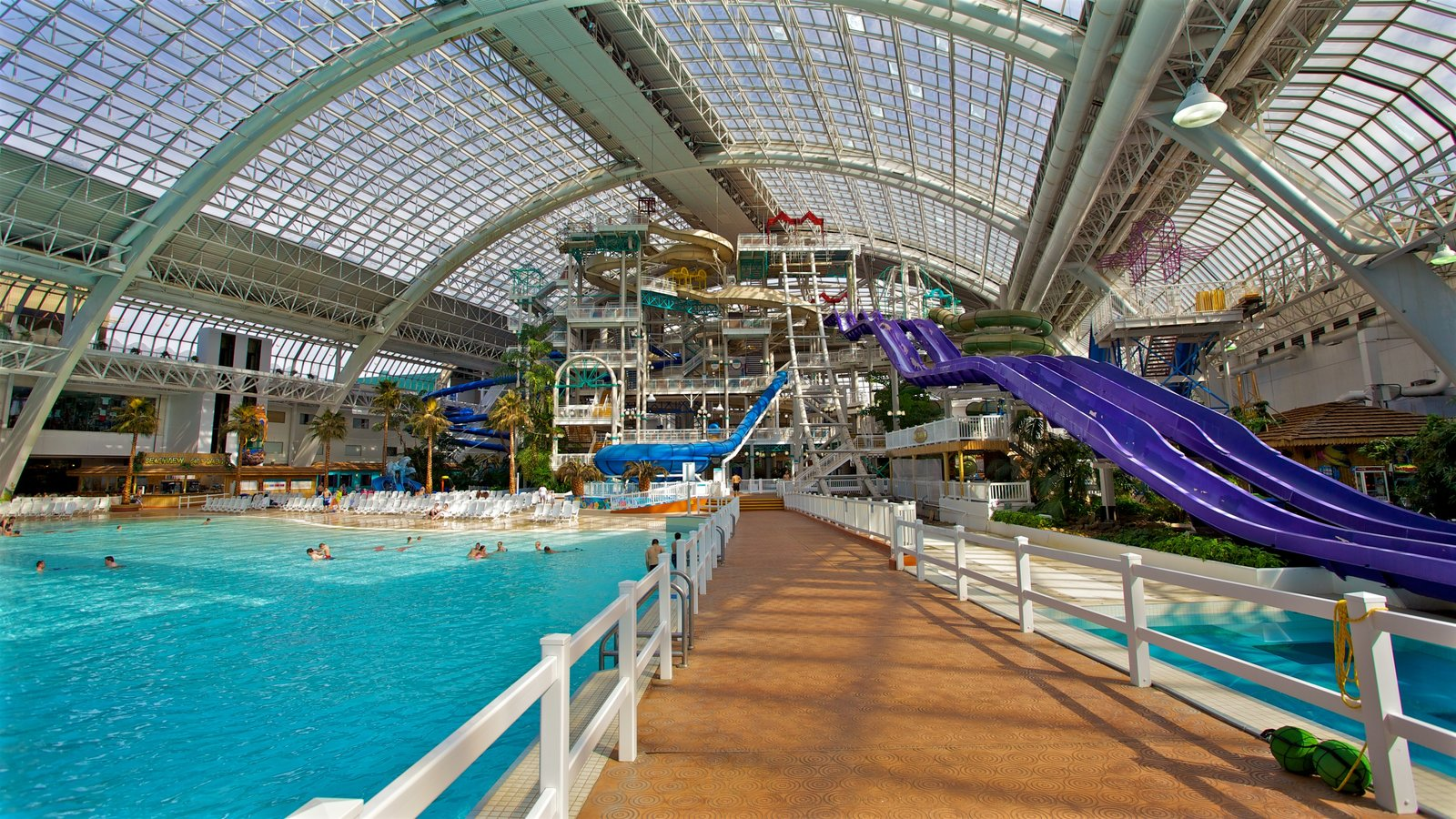 West Edmonton Mall featuring interior views and a water park