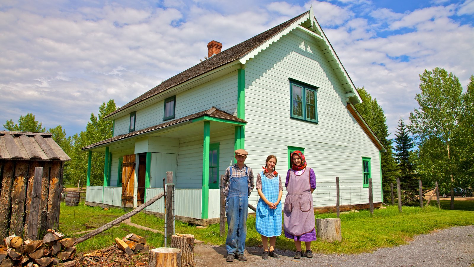 Ukrainian Cultural Heritage Village which includes heritage elements and heritage architecture as well as a family