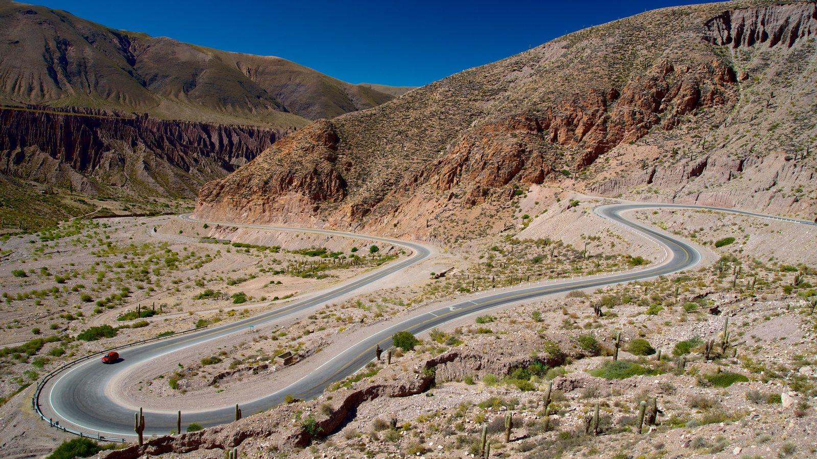 Jujuy que inclui paisagens do deserto e montanhas