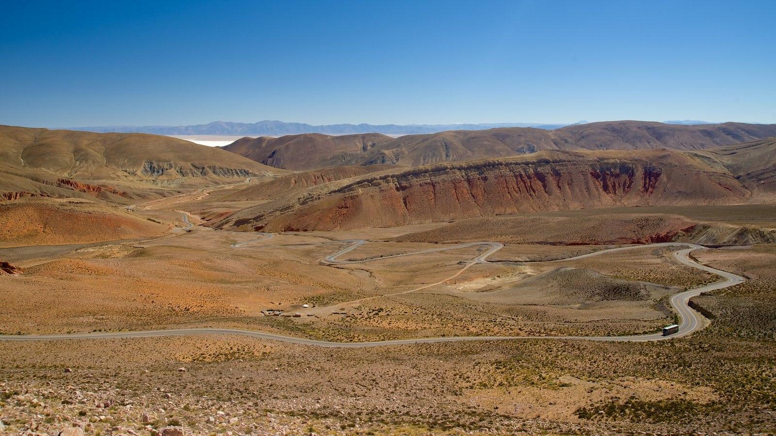 Jujuy que inclui montanhas e paisagens do deserto
