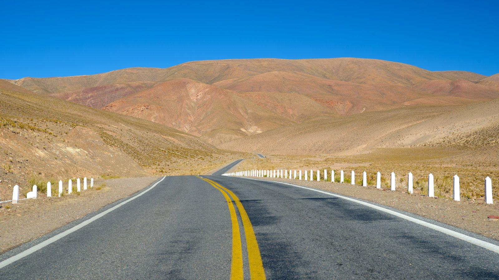 Jujuy mostrando paisagens do deserto e cenas de rua