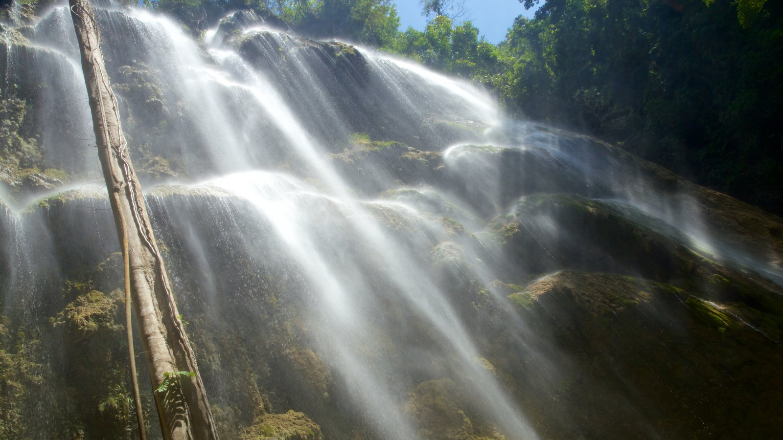 Cebu which includes a waterfall