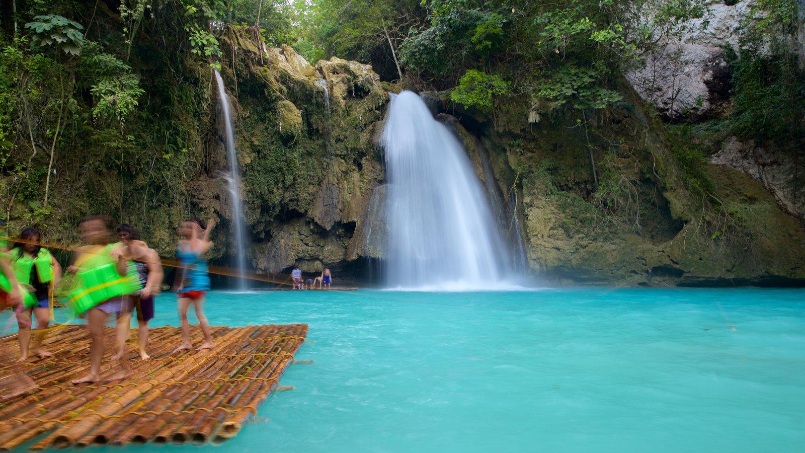 Kawasan Falls showing a waterfall and a lake or waterhole