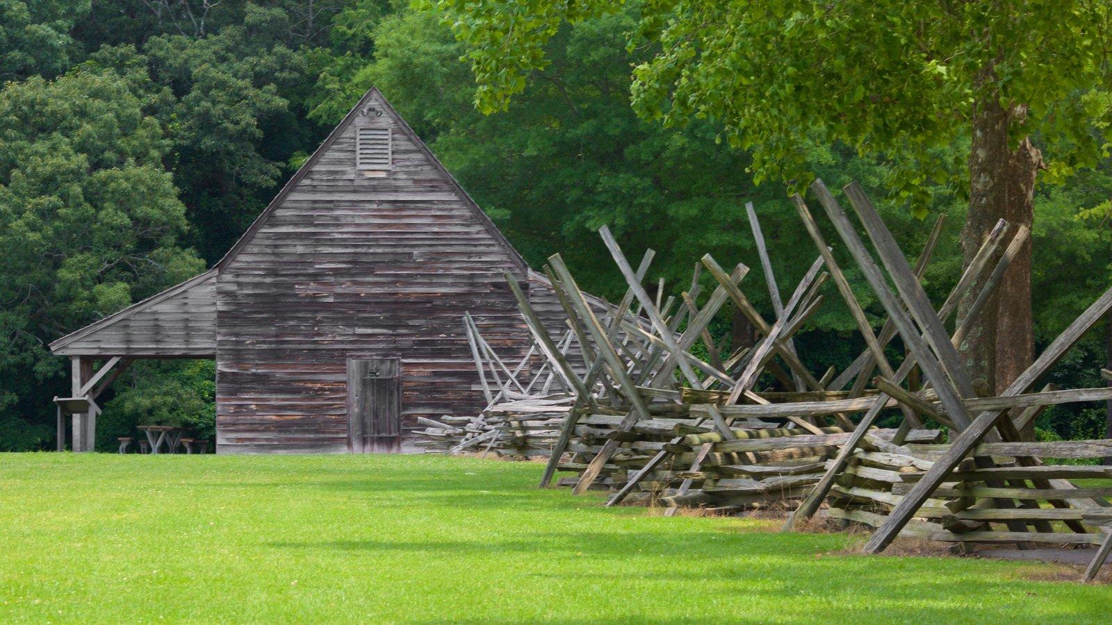 Pemberton Historical Park showing heritage elements and a park