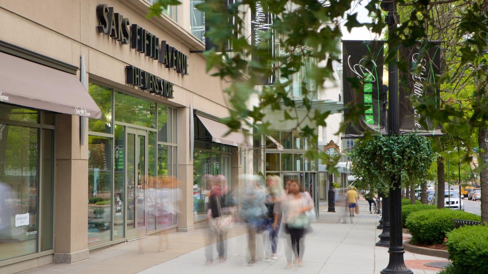 Friendship Heights caracterizando sinalização e compras