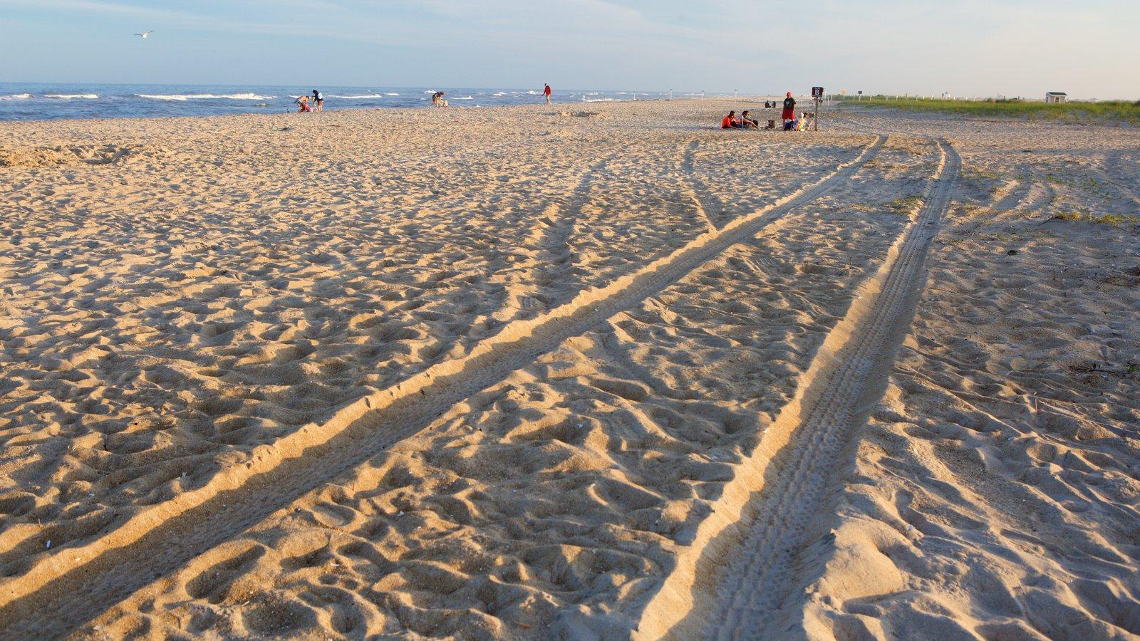 Chincoteague ofreciendo una playa de arena