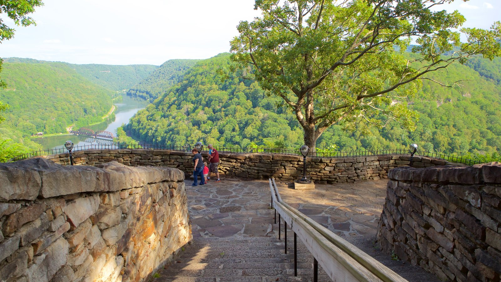 Hawks Nest State Park which includes mountains, views and tranquil scenes