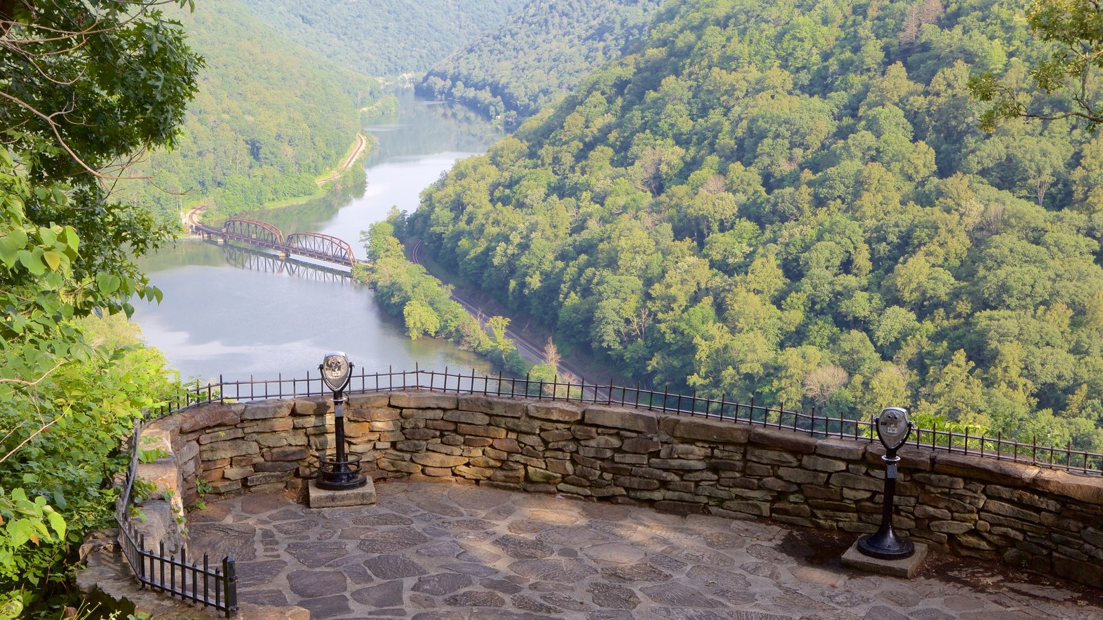 Hawks Nest State Park featuring a river or creek, views and tranquil scenes