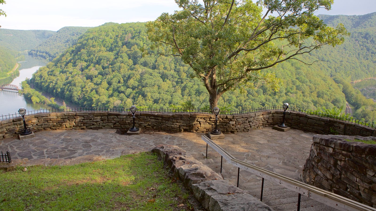 Hawks Nest State Park which includes tranquil scenes, views and mountains