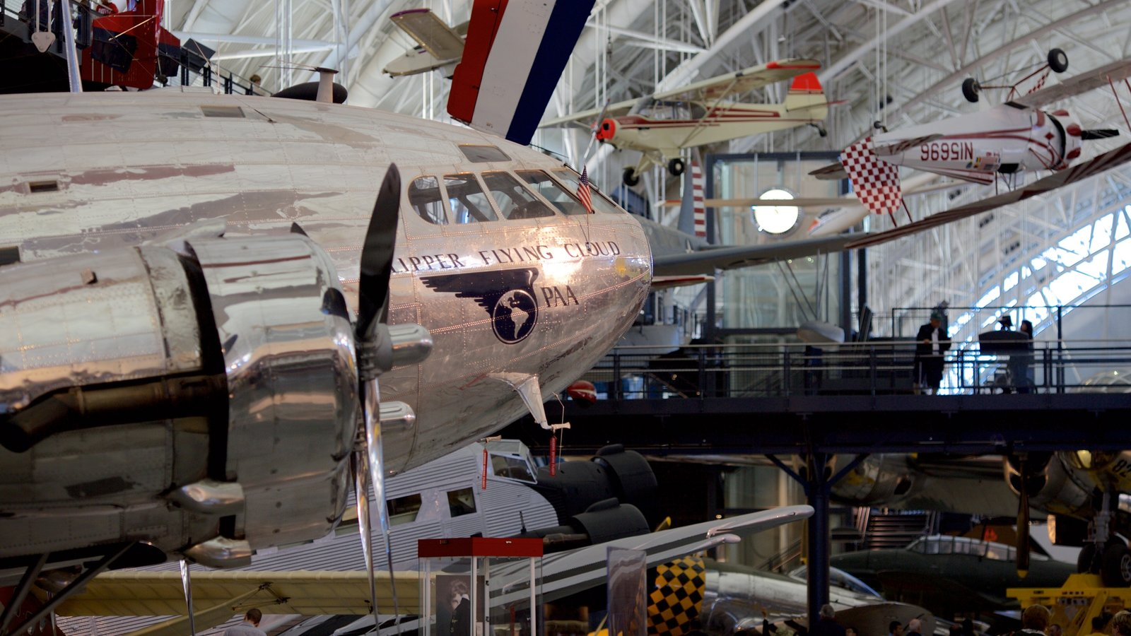 National Air and Space Museum Steven F. Udvar-Hazy Center showing aircraft and interior views