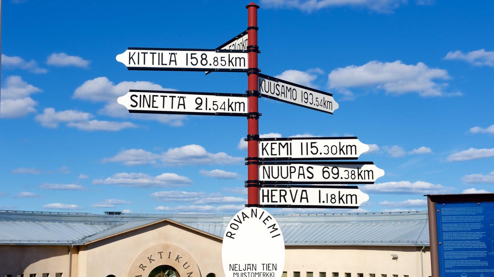 Arktikum which includes signage