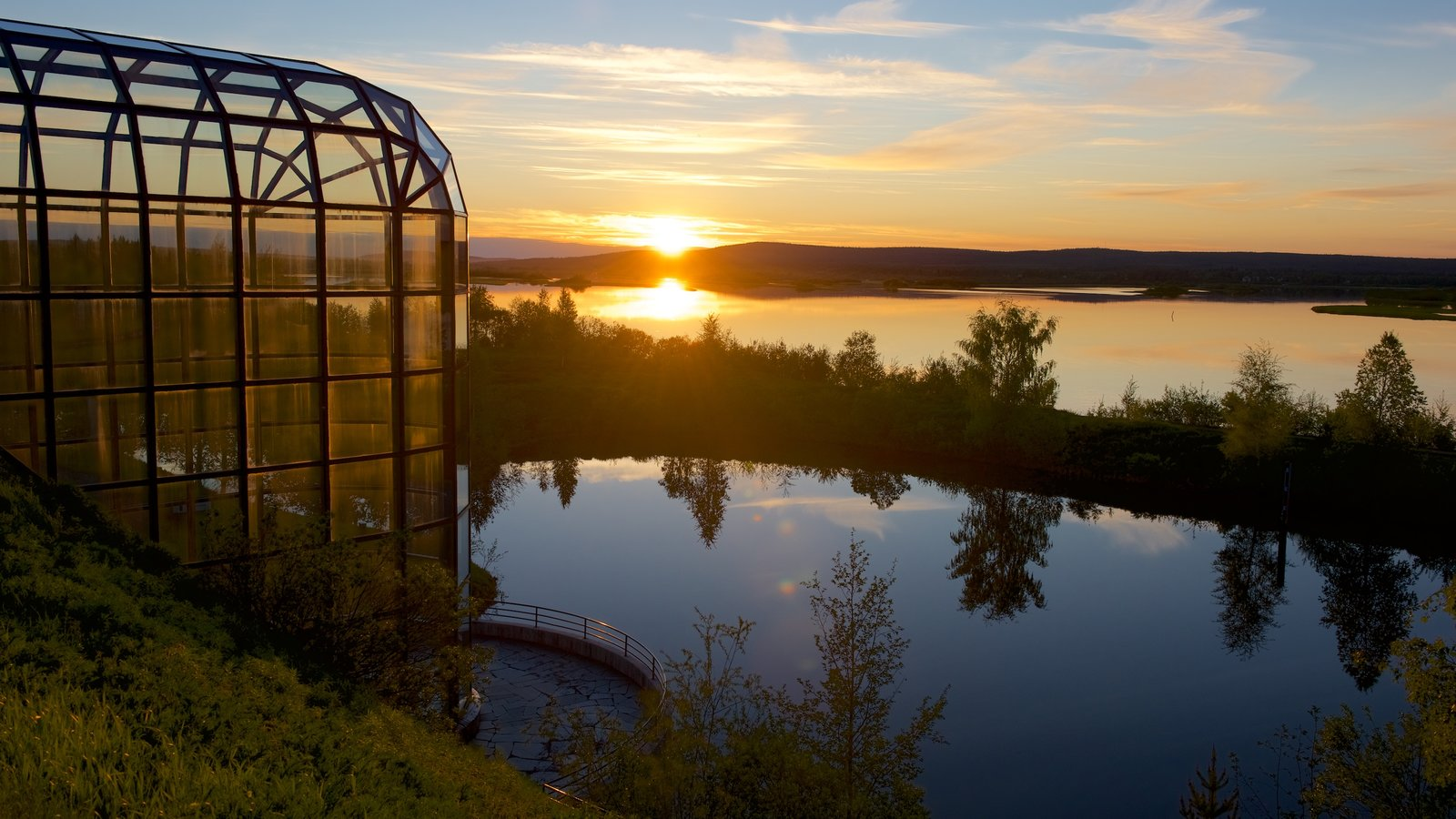 Arktikum featuring a pond, tranquil scenes and landscape views