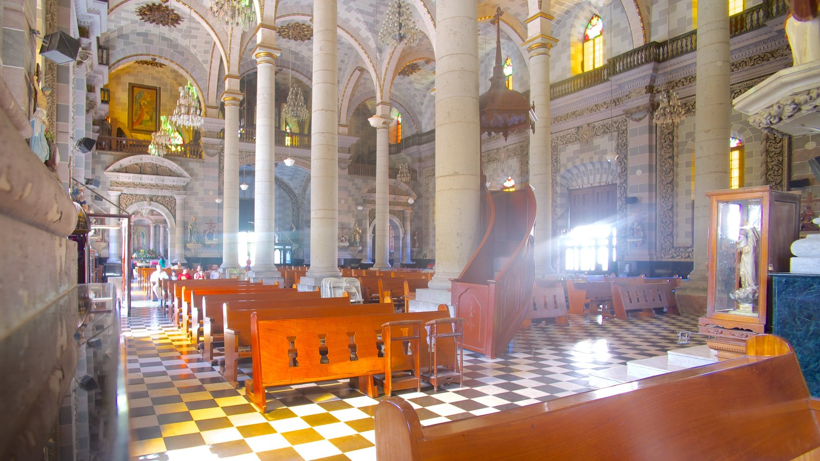 Immaculate Conception Cathedral featuring a church or cathedral, religious aspects and heritage architecture