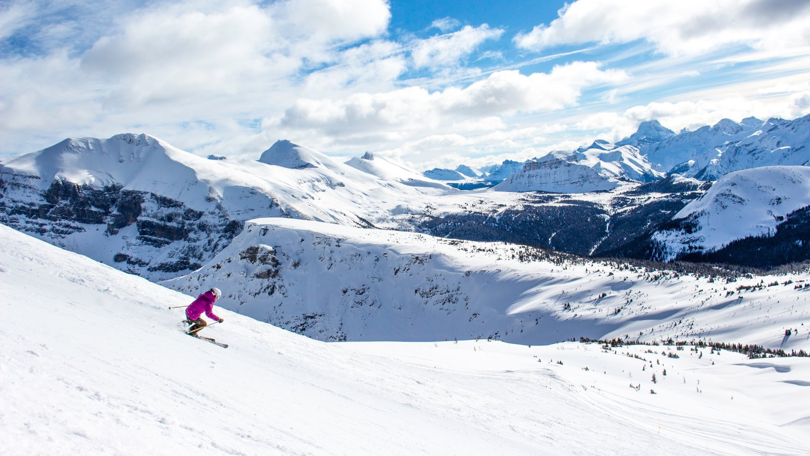Sunshine Village featuring snow skiing, snow and mountains