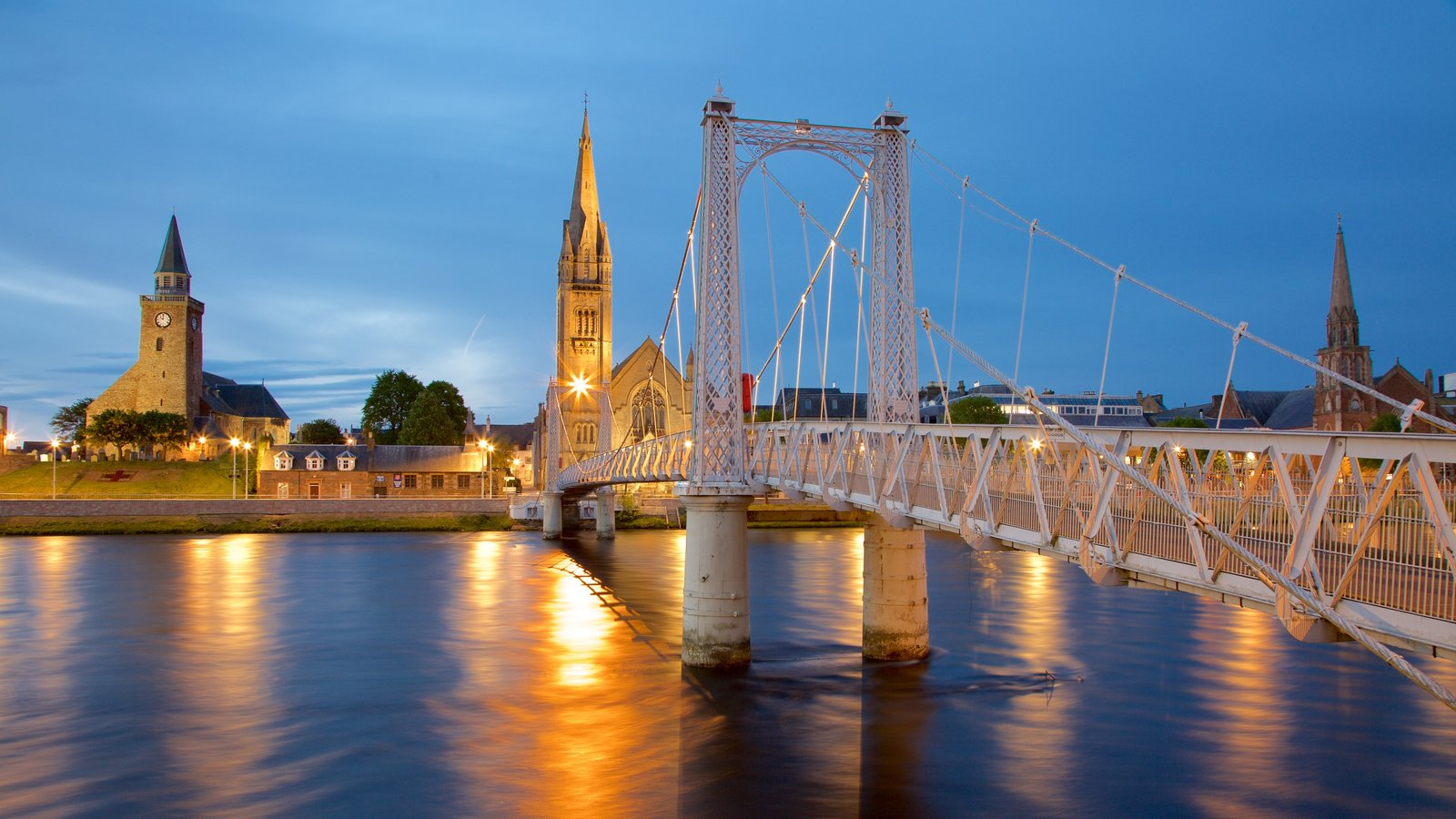 Inverness which includes a river or creek, heritage architecture and heritage elements