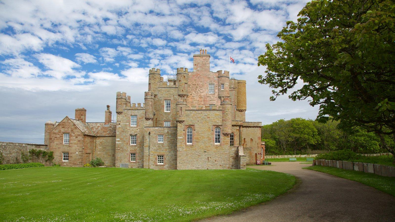 Castelo de Mey caracterizando um castelo, elementos de patrimônio e arquitetura de patrimônio