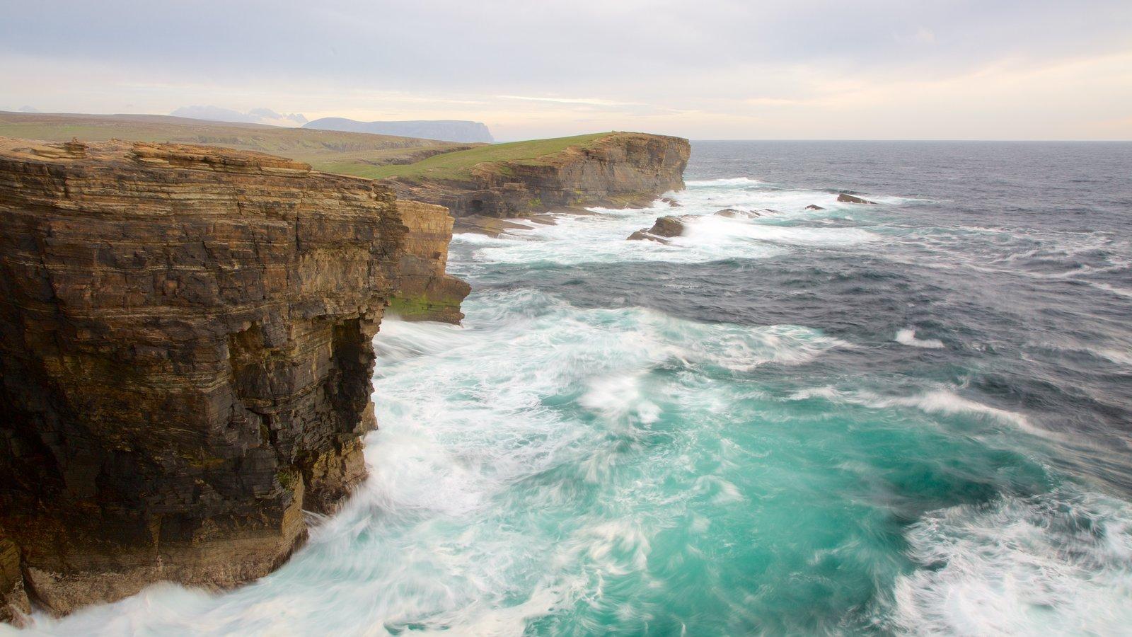 Stromness showing rugged coastline
