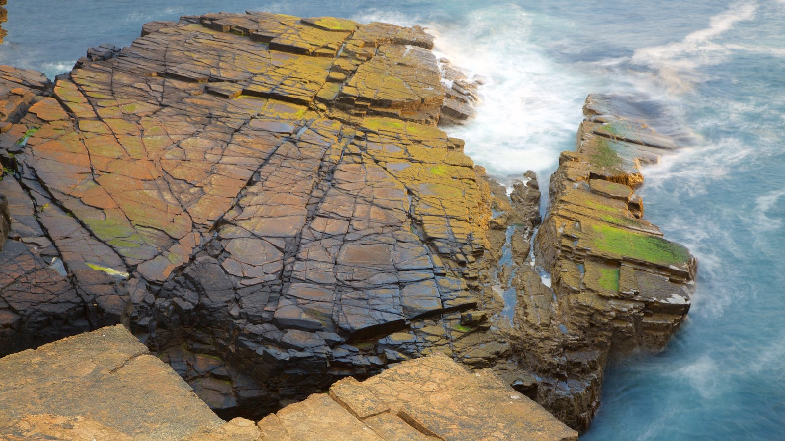 Stromness showing rocky coastline