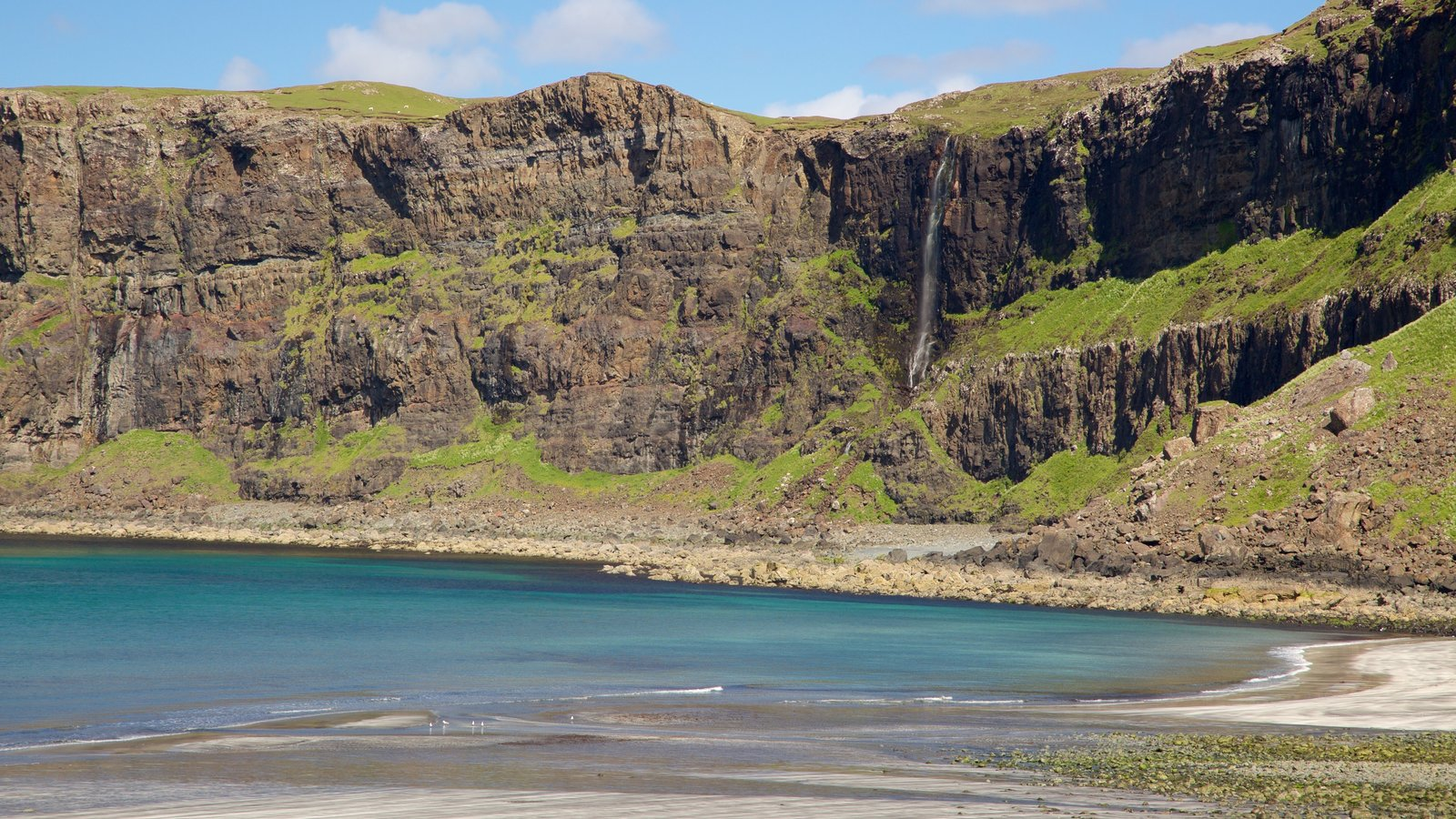 Isle of Skye showing rocky coastline and a beach